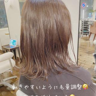 ミディ 透明感カラー ミディアム 鎖骨ミディアム ヘアスタイルや髪型の写真・画像