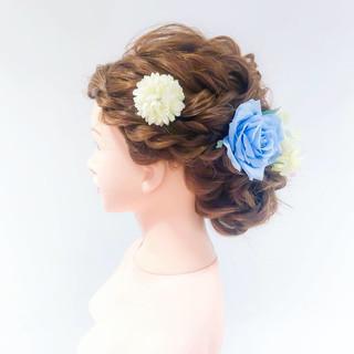 フェミニン ヘアセット 成人式ヘア ヘアアレンジ ヘアスタイルや髪型の写真・画像