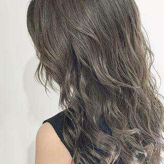 ハイライト ガーリー セミロング スロウ ヘアスタイルや髪型の写真・画像