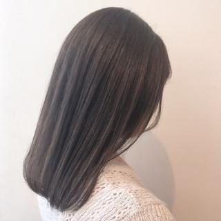 ブリーチなし セミロング ブリーチ無し 透明感カラー ヘアスタイルや髪型の写真・画像