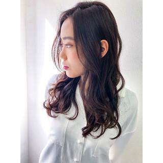 波ウェーブ ゆるふわ 艶髪 ナチュラル ヘアスタイルや髪型の写真・画像