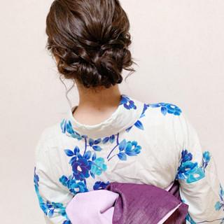 エレガント デート 結婚式 ミディアム ヘアスタイルや髪型の写真・画像