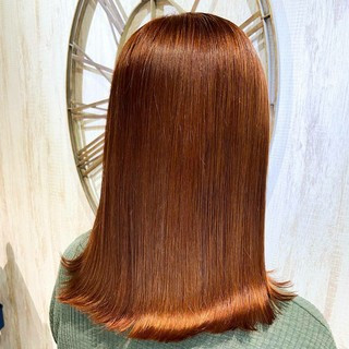 艶カラー セミロング 360度どこからみても綺麗なロングヘア フェミニン ヘアスタイルや髪型の写真・画像