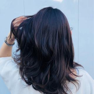 大人女子 イルミナカラー 秋 ロング ヘアスタイルや髪型の写真・画像