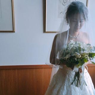 セミロング 結婚式ヘアアレンジ 大人女子 結婚式髪型 ヘアスタイルや髪型の写真・画像