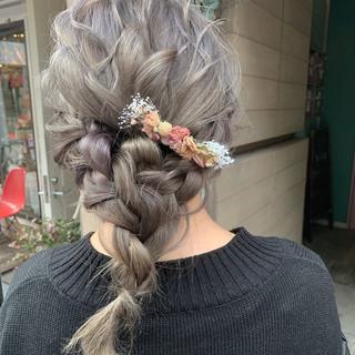 ロング デート ナチュラル 簡単ヘアアレンジ ヘアスタイルや髪型の写真・画像