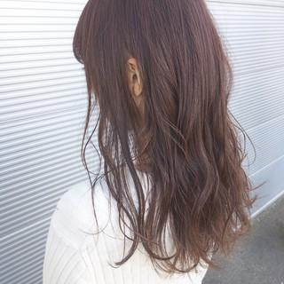 ベージュ ゆるふわ ピンク ラベンダーピンク ヘアスタイルや髪型の写真・画像