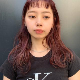 似合わせカット 阿藤俊也 ラベンダーピンク 前髪パッツン ヘアスタイルや髪型の写真・画像