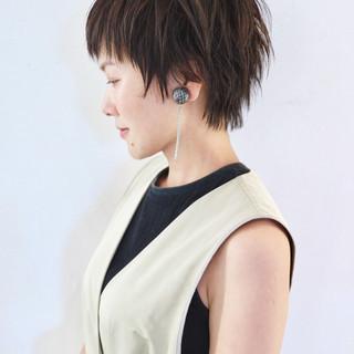 ハイライト ウェット感 大人ショート ショート ヘアスタイルや髪型の写真・画像