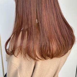 モテ髪 ピンクカラー ロング フェミニン ヘアスタイルや髪型の写真・画像