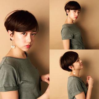 ナチュラル 小顔ショート 大人かわいい ショート ヘアスタイルや髪型の写真・画像