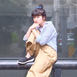 ロング ヘアアレンジ 夏 お団子 ヘアスタイルや髪型の写真・画像