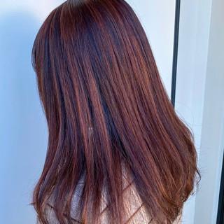 フェミニン ピンクカラー チェリーピンク 春 ヘアスタイルや髪型の写真・画像