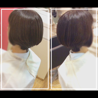 ナチュラル ショートヘア ショート 髪質改善 ヘアスタイルや髪型の写真・画像