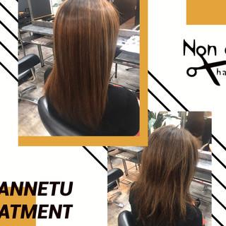 セミロング 髪質改善トリートメント ストレート トリートメント ヘアスタイルや髪型の写真・画像