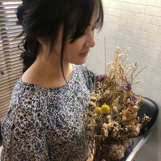 フェミニン ロング 髪質改善トリートメント デート ヘアスタイルや髪型の写真・画像