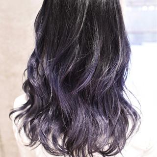 セミロング 外国人風カラー ハイライト ストリート ヘアスタイルや髪型の写真・画像