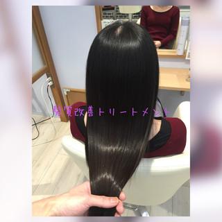 ストレート 髪質改善トリートメント 髪質改善 トリートメント ヘアスタイルや髪型の写真・画像