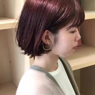 ピンク デート ガーリー ラベンダーピンク ヘアスタイルや髪型の写真・画像