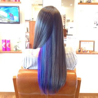 メッシュ エレガント 成人式 ロング ヘアスタイルや髪型の写真・画像