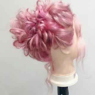 セミロング ヘアアレンジ 簡単ヘアアレンジ ブライダル ヘアスタイルや髪型の写真・画像 ヘアスタイルや髪型の写真・画像