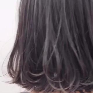 外ハネボブ 外国人風カラー ボブ ナチュラル ヘアスタイルや髪型の写真・画像