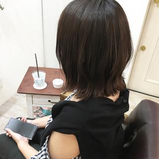 外ハネ 夏 ボブ アッシュ ヘアスタイルや髪型の写真・画像 ヘアスタイルや髪型の写真・画像