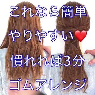 ヘアアレンジ 簡単ヘアアレンジ ショート フェミニン ヘアスタイルや髪型の写真・画像