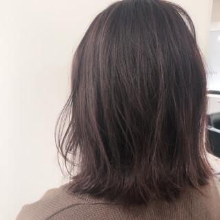 透明感カラー ナチュラル ミディアム ラベンダーピンク ヘアスタイルや髪型の写真・画像