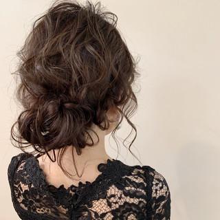 ゆるふわ 大人かわいい 結婚式 簡単ヘアアレンジ ヘアスタイルや髪型の写真・画像
