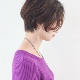 アウトドア ボブ かっこいい アンニュイほつれヘア ヘアスタイルや髪型の写真・画像