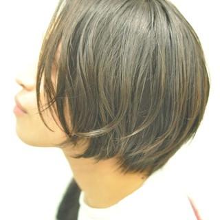 ショートボブ パーマ ナチュラル ショートバング ヘアスタイルや髪型の写真・画像 ヘアスタイルや髪型の写真・画像