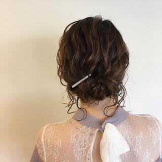 ヘアアレンジ パーティ ナチュラル 結婚式 ヘアスタイルや髪型の写真・画像