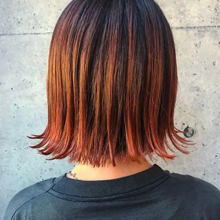 ストリート アプリコットオレンジ ゆるふわ 色気 ヘアスタイルや髪型の写真・画像