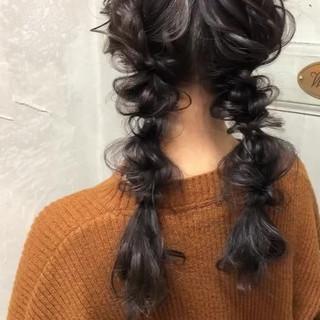 ツインテール ロング ヘアアレンジ 大人かわいい ヘアスタイルや髪型の写真・画像 ヘアスタイルや髪型の写真・画像