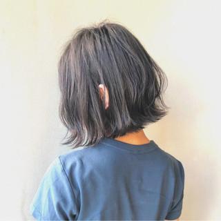 透明感 ナチュラル 暗髪 ボブ ヘアスタイルや髪型の写真・画像