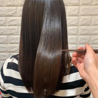 サラサラ ナチュラル ツヤツヤ 髪質改善トリートメント ヘアスタイルや髪型の写真・画像