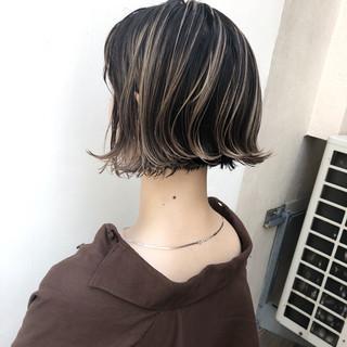 パーマ ボブ アンニュイほつれヘア 外国人風カラー ヘアスタイルや髪型の写真・画像