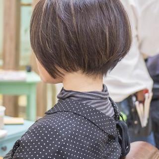 ボブ ミニボブ ショートボブ ショートカット ヘアスタイルや髪型の写真・画像