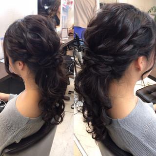 上品 ルーズ ミディアム エレガント ヘアスタイルや髪型の写真・画像