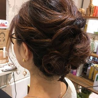 簡単ヘアアレンジ ボブ フェミニン 結婚式 ヘアスタイルや髪型の写真・画像 ヘアスタイルや髪型の写真・画像