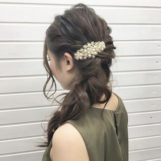ヘアアレンジ 結婚式 成人式 ロング ヘアスタイルや髪型の写真・画像