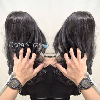 ブルージュ グラデーションカラー ストリート ダークグレー ヘアスタイルや髪型の写真・画像