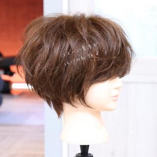 大人かわいい パーマ デート ショート ヘアスタイルや髪型の写真・画像