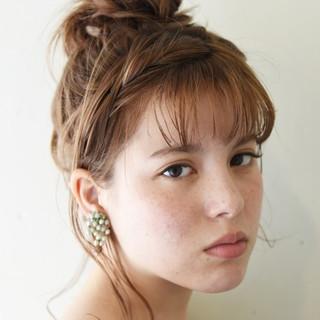 セミロング ヘアアレンジ 涼しげ 大人かわいい ヘアスタイルや髪型の写真・画像 ヘアスタイルや髪型の写真・画像