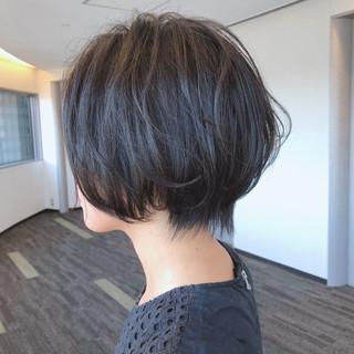 エレガント 小顔ショート ハンサムショート デート ヘアスタイルや髪型の写真・画像