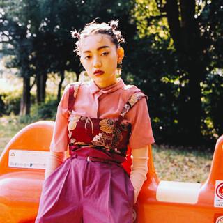 ヘアアレンジ モード アッシュ 透明感 ヘアスタイルや髪型の写真・画像