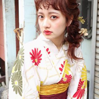 ヘアアレンジ 花火大会 デート ナチュラル ヘアスタイルや髪型の写真・画像