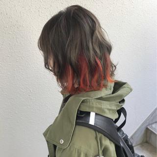 ボブ カラーバター ストリート 個性的 ヘアスタイルや髪型の写真・画像