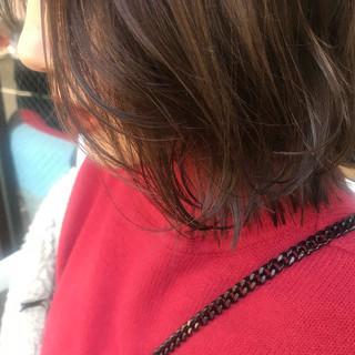 切りっぱなしボブ 簡単ヘアアレンジ 髪質改善トリートメント 暗髪 ヘアスタイルや髪型の写真・画像